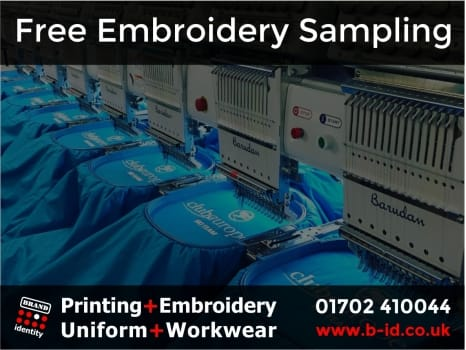Free embroidery sampling service