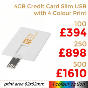 4GB Credit Card Slim USB With Full Colour Print
