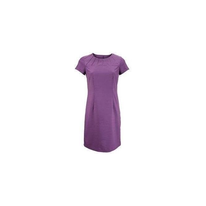 Alexandra Satin trim dress