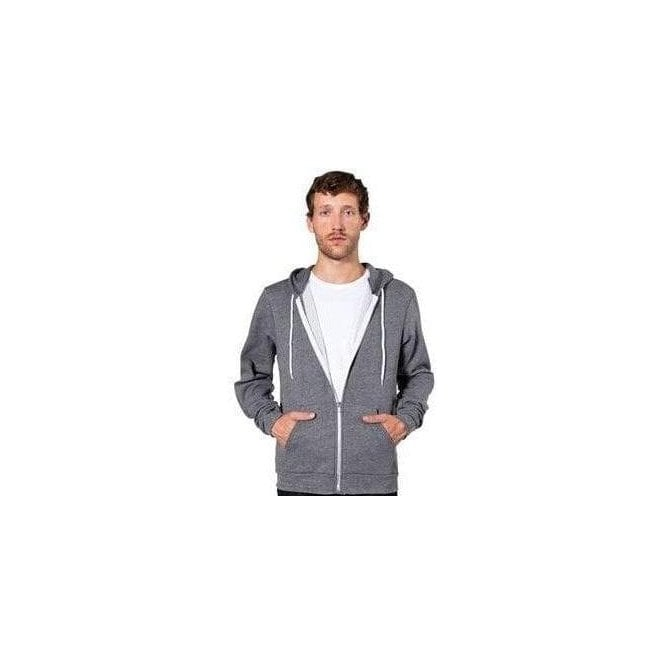American Apparel Unisex salt and pepper zip hoodie (MT497)