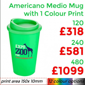 Americano Medio Mug With Single Colour Print