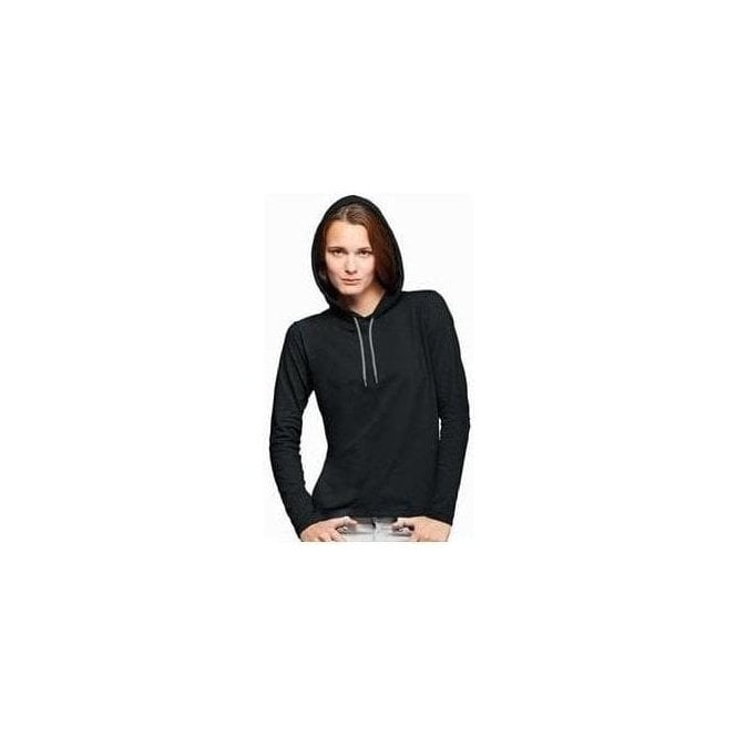 Anvil women's fashion basic long sleeve hooded tee