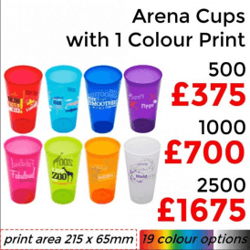 Arena Cup With Single Colour Print