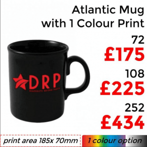 Atlantic Earthenware Mug With Single Colour Print