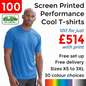 100 x Screen Printed Cool T £514
