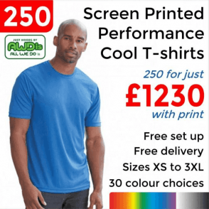 250 x Screen Printed Cool T £1230