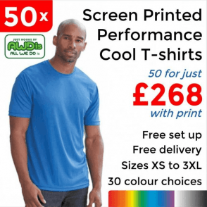 50 x Screen Printed Cool T £268