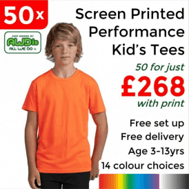 50 x Screen Printed Kids cool T £268