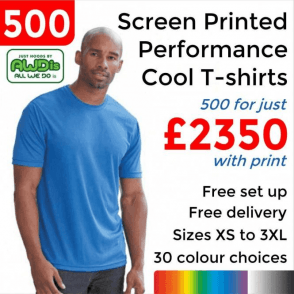 500 x Screen Printed Cool T £2350