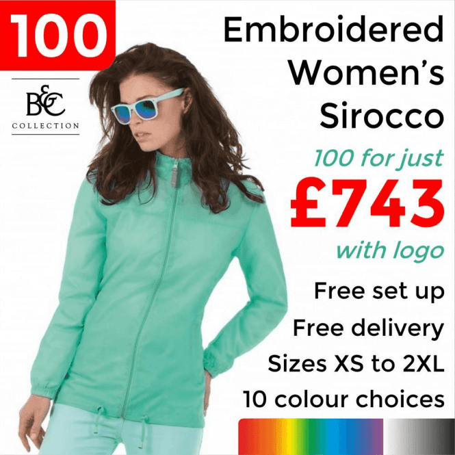 B&C Collection 100 x Embroidered Women's Sirocco Jacket £743