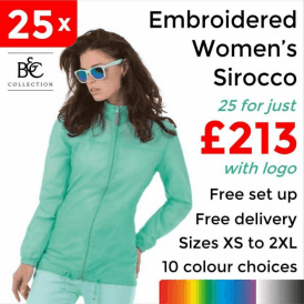 25 x Embroidered Women's Sirocco Jacket £213