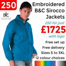 250 x Embroidered Sirocco Jacket £1725