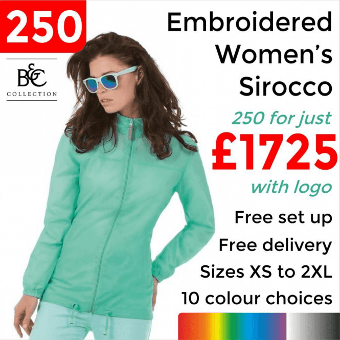 B&C Collection 250 x Embroidered Women's Sirocco Jacket £1725