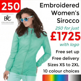 250 x Embroidered Women's Sirocco Jacket £1725