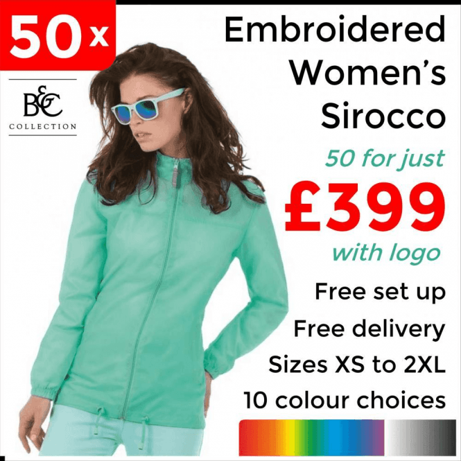 B&C Collection 50 x Embroidered Women's Sirocco Jacket £399