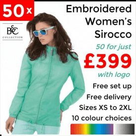 50 x Embroidered Women's Sirocco Jacket £399