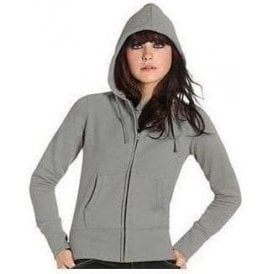 B&C Collection Hooded full zip women's sweatshirt
