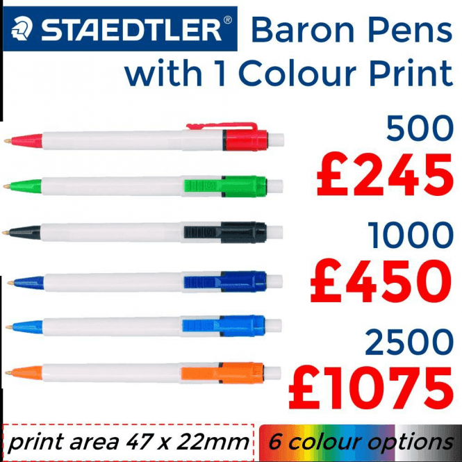 Baron Pen With Single Colour Print