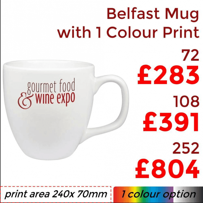 Belfast Mug With Single Colour Print