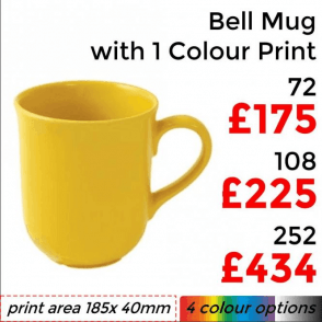 Bell Earthenware Mug With Single Colour Priint