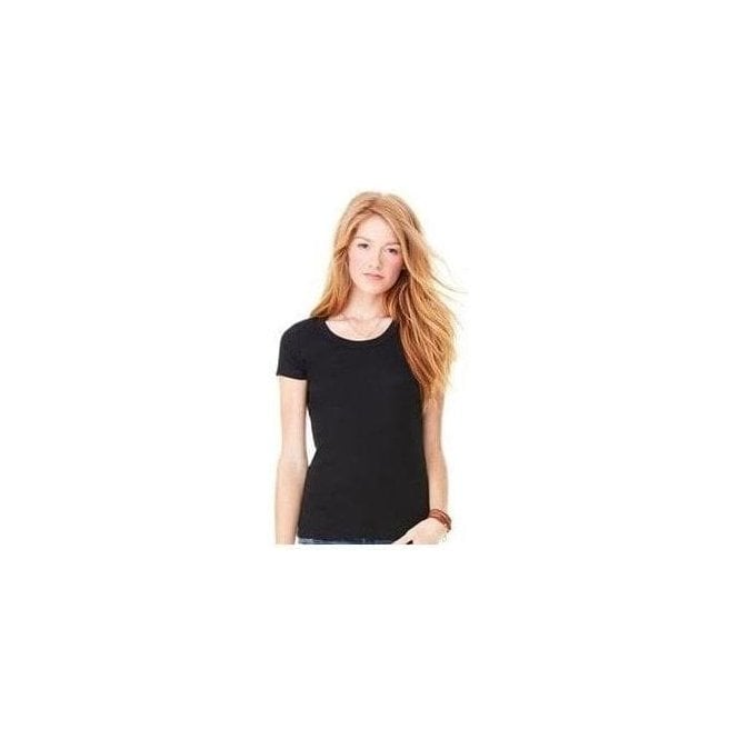 Bella+Canvas Baby rib short sleeve scoop neck t-shirt