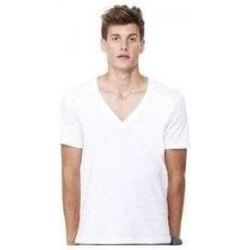 Unisex jersey deep v-neck t-shirt