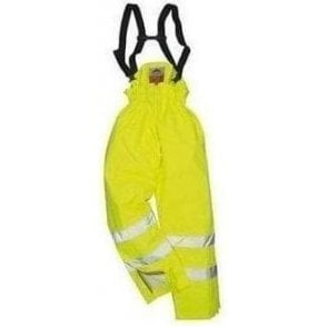 Bizflame rain unlined hi-vis antistatic FR trouser (S780)