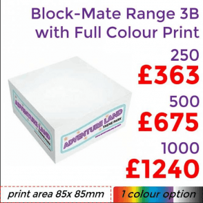 Block-Mate® Range 3B With Full Colour Print