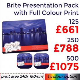 Brite-Mat Presentation Pack With Full Colour Print