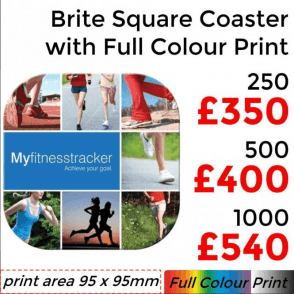 Brite Mat Square Coaster With Full Colour Print