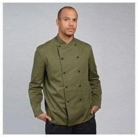 Chef's jacket stud button, technicolour long sleeve (DD56)