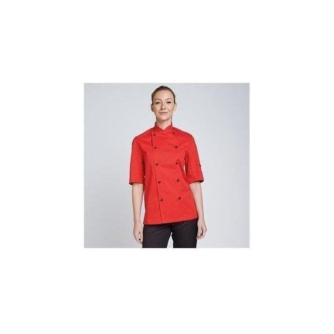 Dennys Chef's jacket stud button, technicolour short sleeve (DD56S)