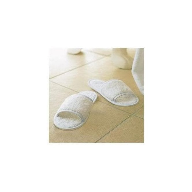 TowelCity Classic terry slippers (open toe)