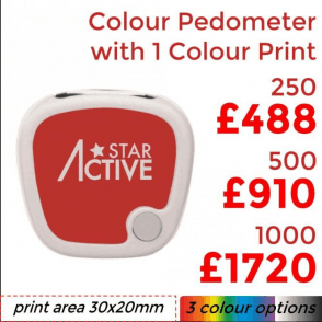 Colour Pedometer With Single Colour Print