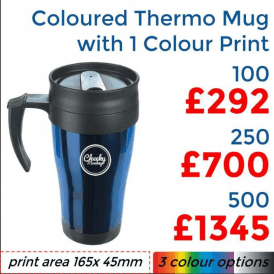 Coloured Thermo Mug With Single Colour Print