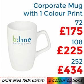 Corporate Earthenware Mug With Single Colour Print