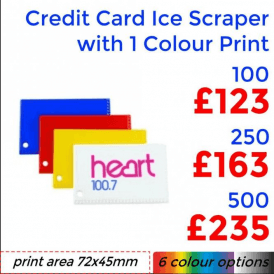 Credit Card Ice Scraper With Single Colour Print