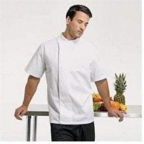 'Culinary' pull-on - chef's short sleeve tunic