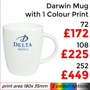 Darwin Earthenware Mug With Single Colour Print