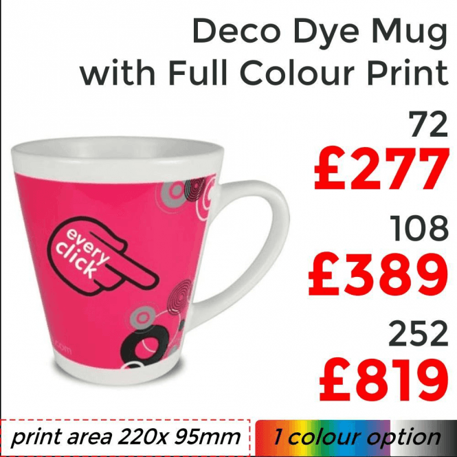 Deco Dye Sublimation Mug With Full Colour Print