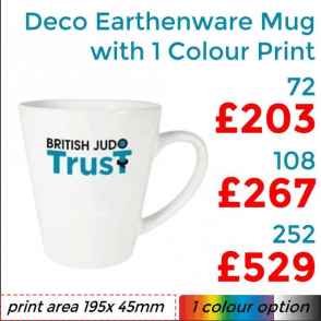 Deco Earthenware Mug With Single Colour Print