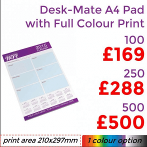 Desk-Mate® Pad A4 With Full Colour Print