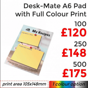 Desk-Mate® Pad A6 With Full Colour Print