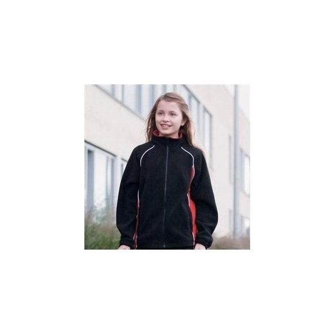 Finden Hales Kids piped microfleece jacket
