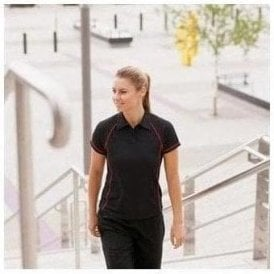Finden Hales Women's piped performance polo