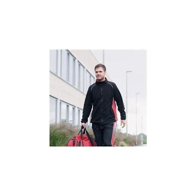 Finden Hales Piped microfleece jacket