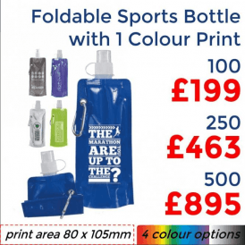 Foldable Sports Bottle With Single Colour Print
