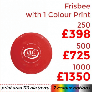 Frisbee With Single Colour Print