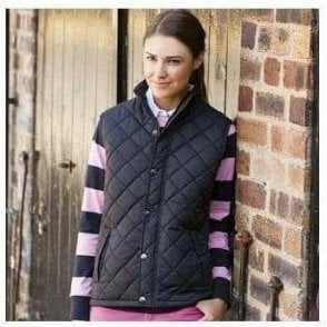 Front Row Women's Diamond quilt gilet