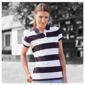 Front Row Women's striped pique polo